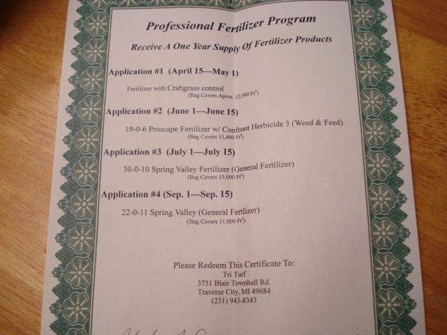 fertilizer cert.