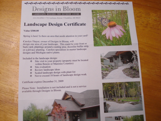 And here is the coveted landscape design certificate. Yahoooo