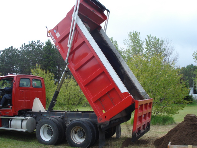 a truck load of pretty dirt