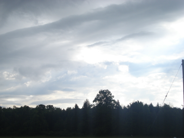 the sky across Sis' field