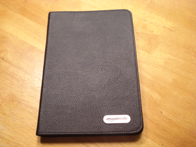 the kindle in it's cover