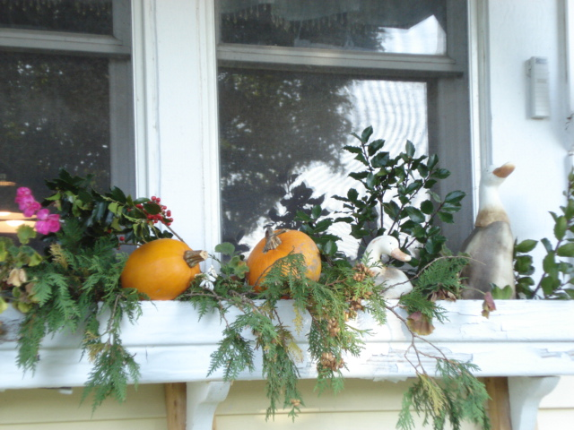 fall kitchen window box